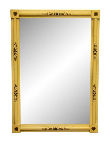 French Yellow Framed Mirror - Antique Mirrors