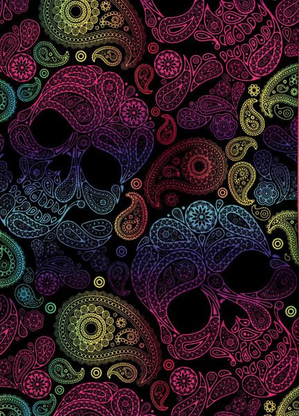 Tela FQ :: pasley skulls :: de nosgustanlosretros por DaWanda.com