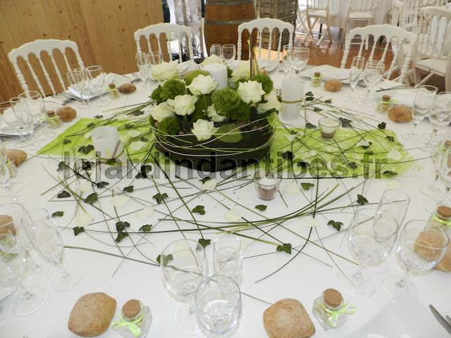 Decoration Table Mariage Idee Couleur Vert Photo