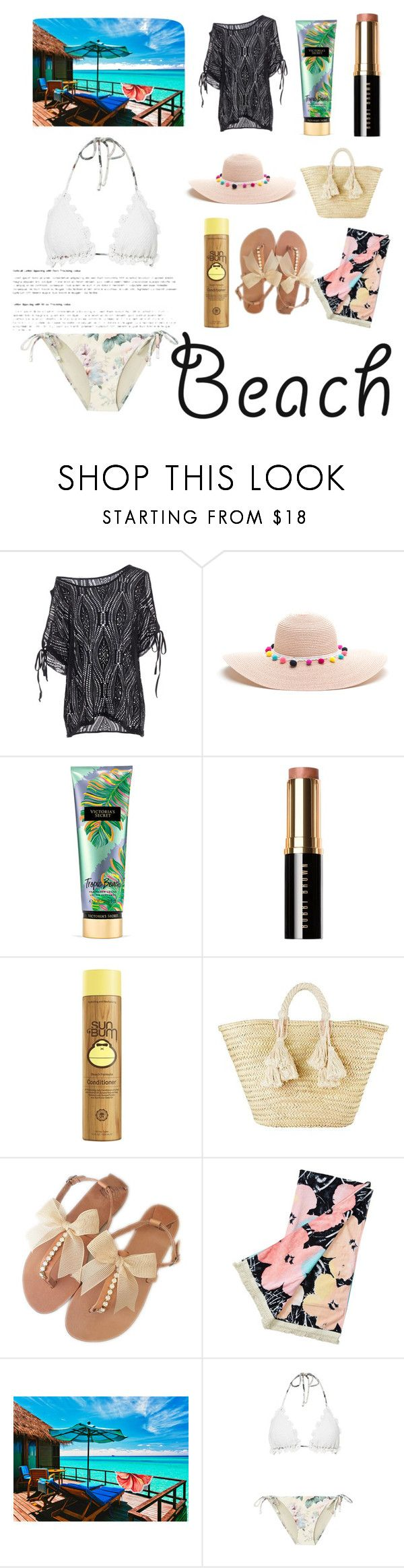 """Untitled #128"" by putrinaini on Polyvore featuring Victoria's Secret, Bobbi Brown Cosmetics, Giselle, Billabong, LaMont and Zimmermann"