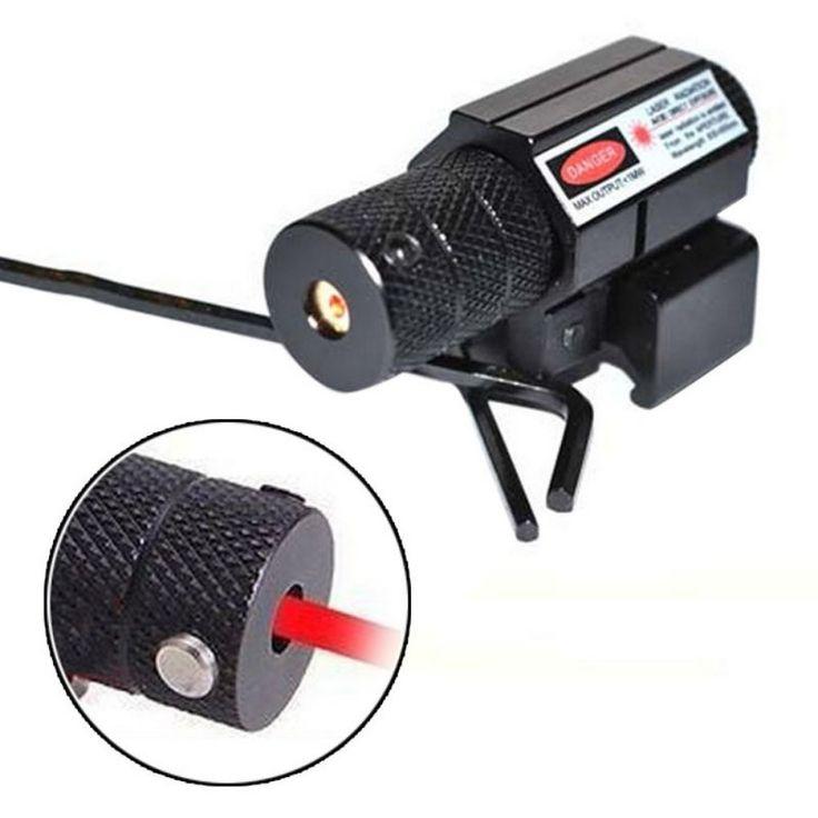 Táctica Punto Rojo Laser Sight Scope w/Mount 21mm Picatinny Rail Mount + 2x Llave Pistola Rifle Pistola Óptica de Caza #2168