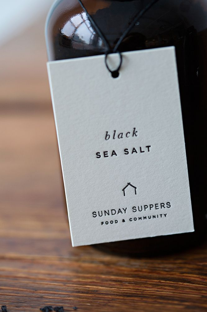 Sunday Suppers - Black Sea Salt | Another example of how strong a lot of white space can be.