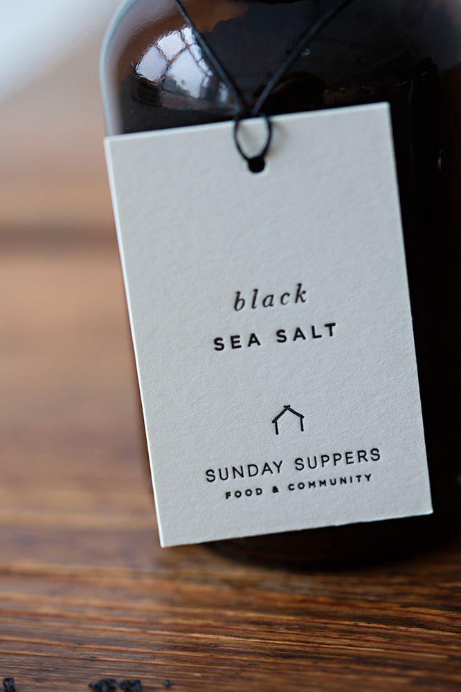 Sunday Suppers - Black Sea Salt #brandmarke likes it #minimalism