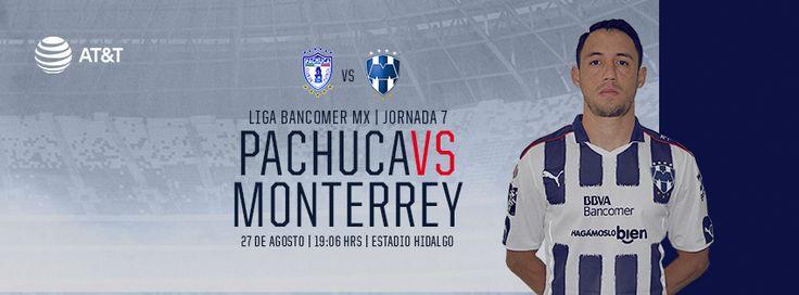 Club de Futbol Monterrey Publicado por Marcelle BerryChelle Villarreal Te gusta esta página · 22 de agosto · Editado  ·    Jornada 7 de la LIGA Bancomer MX: Club Pachuca Tuzos vs. Club de Futbol Monterrey el 27 de agosto a las 19:06hrs en el Estadio Hidalgo.  Transmite Fox Sports.