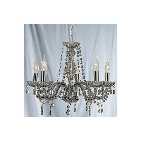Searchlight 8695-5GY Marie Therese 5 Light Chandelier Smoked Grey