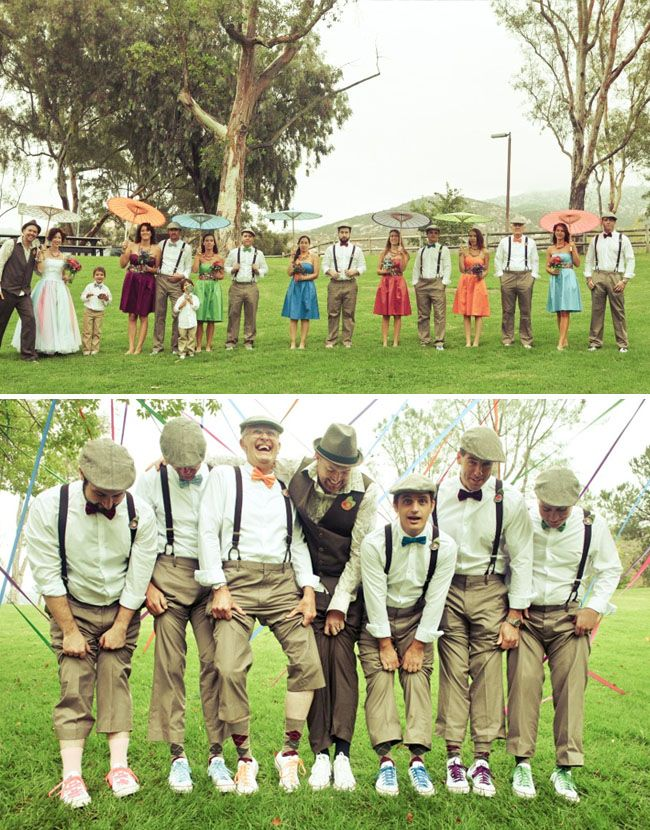My style wedding (would be great if you bought all the groomsmen fun socks to wear)