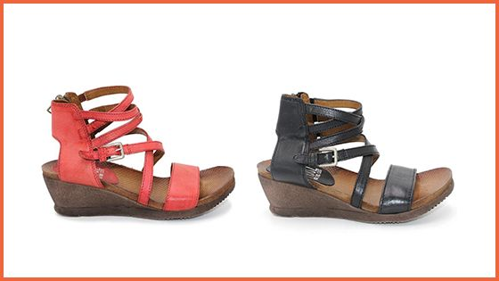 The Shay Sandal returns this Spring in TomatoandBlack!