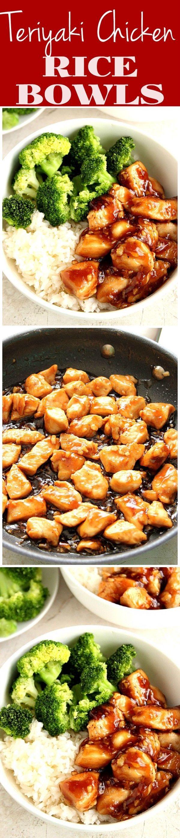 Quick Teriyaki Chicken Rice Bowls
