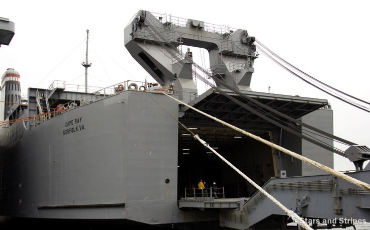 The Cape Ray, docked at the NASSCO-Earl Shipyard in Portsmouth, Va., January 2, 2014, is on its way to neutralize #Syria's chemical weapons. (RICK VASQUEZ/STARS AND STRIPES) #military #USNavy #Navy