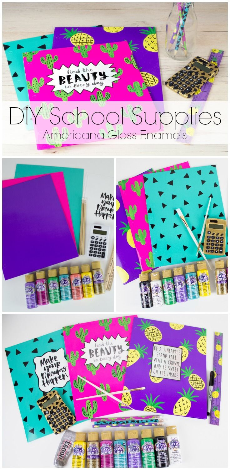 Back-to-school is anything but basic with Americana Gloss Enamels from DecoArt.
