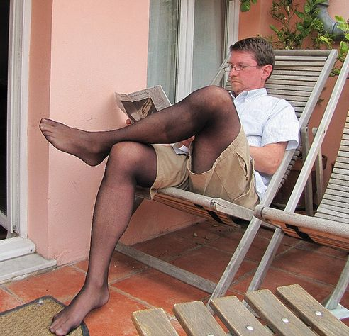 in stories Men pantyhose