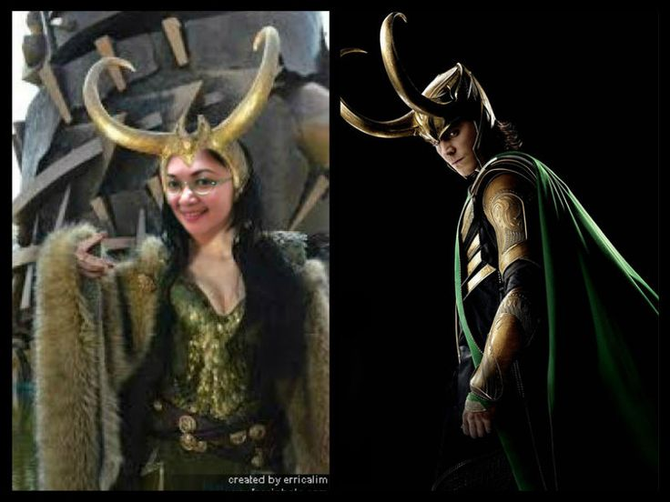 Lady and Lord of Mischief Loki Avengers villain piZap pic by erricalim