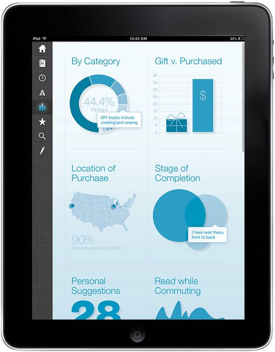 infoviz dashboard / ipad