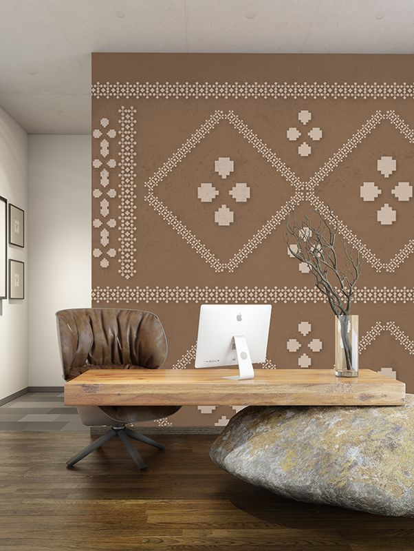 Embroidery | Designer Murals | Accent Wallpaper | Choose your favorite design from our Accent Wallpaper Collections www.accentwall.eu #accentwall #mural #wallpapermural #designerwallpaper