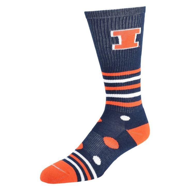 Women's Illinois Fighting Illini Razzle Knee-High Socks, Size: 9-11, Blue (Navy)