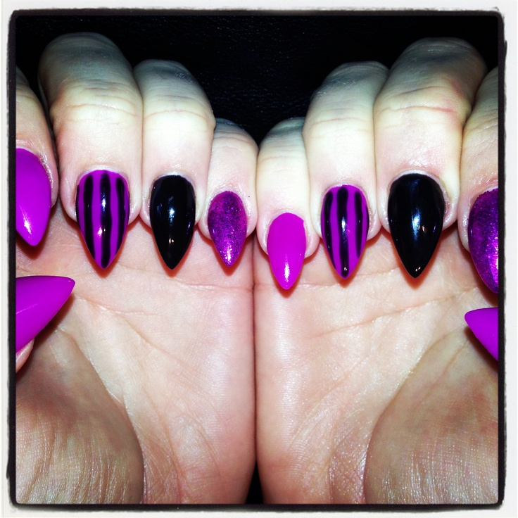 Nails for every style I would do this style and color for HALLOWEEN