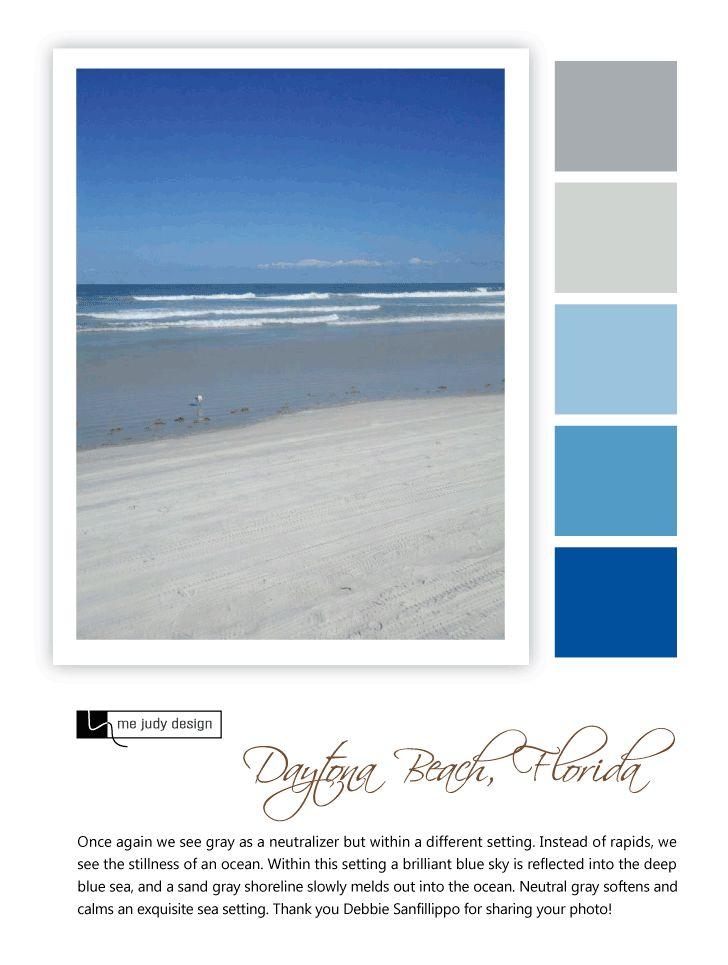 Shoreline influence: Neutral gray softens the setting of the sea! Location:  Daytona,