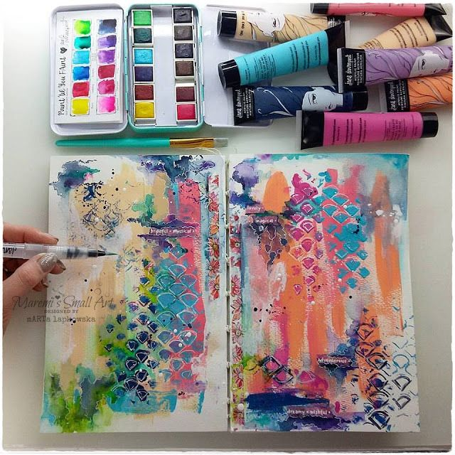 Marta Lapkowska: Junk Journal Tutorial + journal spreads
