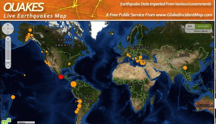 ❥ Live earthquakes map