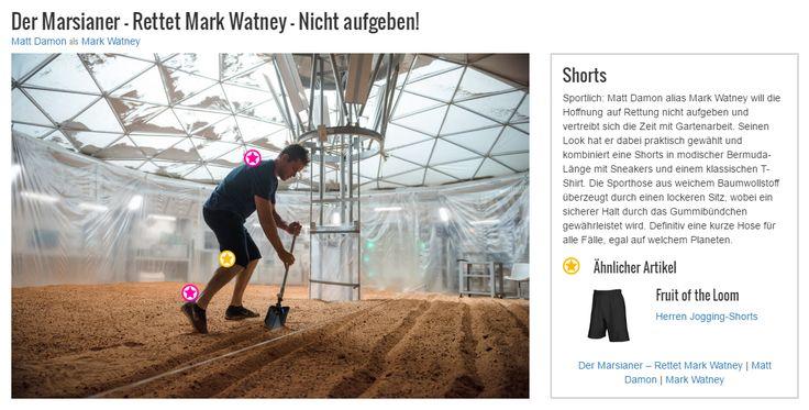 Sportlich: Matt Damon alias Mark Watney will die Hoffnung auf Rettung nicht aufgeben und vertreibt sich die Zeit mit Gartenarbeit. Seinen Look hat er dabei praktisch gewählt und kombiniert eine Shorts in modischer Bermuda-Länge mit Sneakers und einem klassischen T-Shirt. Die Sporthose aus weichem Baumwollstoff überzeugt durch einen lockeren Sitz, wobei ein sicherer Halt durch das Gummibündchen gewährleistet wird. Definitiv eine kurze Hose für alle Fälle, egal auf welchem Planeten.