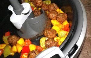 """Sweet And Sour Meatballs """"Actifry"""" - RecipeZazz"""