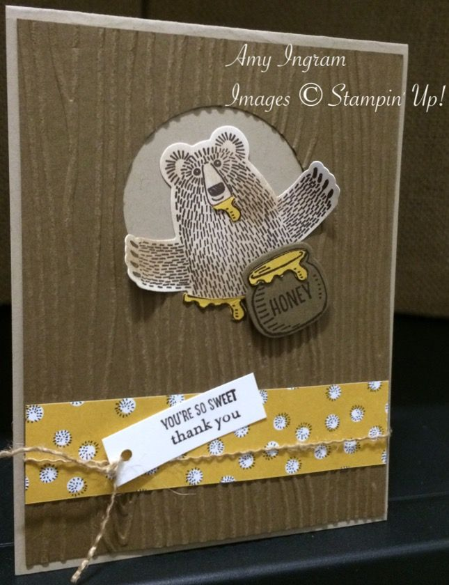 Stampin up Bear Hugs. SAB wildflower dsp 2016
