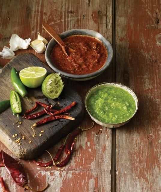 The best red salsas I've had on the street are a deep, rusty brick color, and they taste definitively of dried chiles, acid and salt.