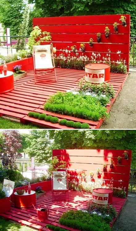 pallets, pallets, pallets! I'm going to try this (since I don't have grass) ↖(^▽^)↗