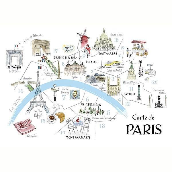 This is an image of Juicy Printable Maps of Paris