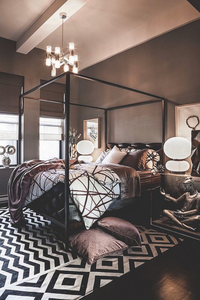 Black Design Inspiration For A Master Bedroom Decor