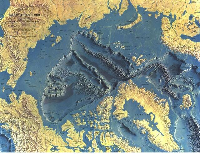 Arctic Ocean Floor Map Geology Map Historical Maps Ocean