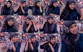 Desyana Al Syarief Pratiwi: Tutorial Hijab modern dan simple ^^