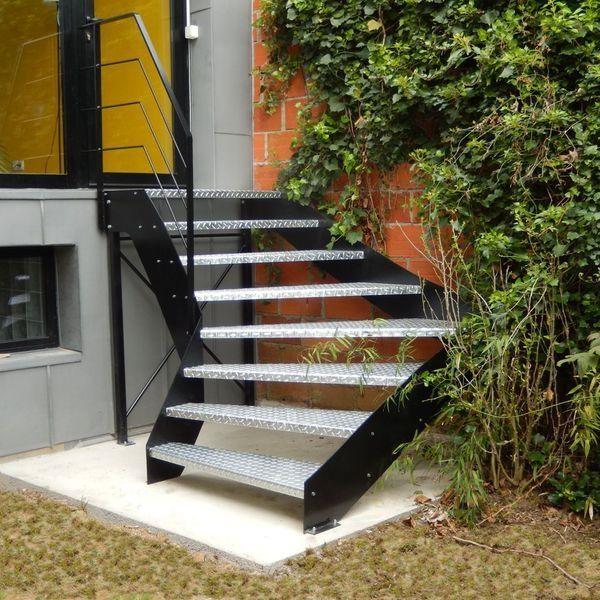 Escalier Dextrieur Des Escaliers En Bois Alu Acier Avec Dans