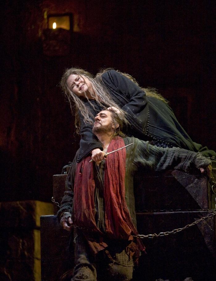 "Susan Graham in the title role and Plácido Domingo as Orest in Gluck's ""Iphigénie en Tauride.""  Photo: Ken Howard/Metropolitan Opera"