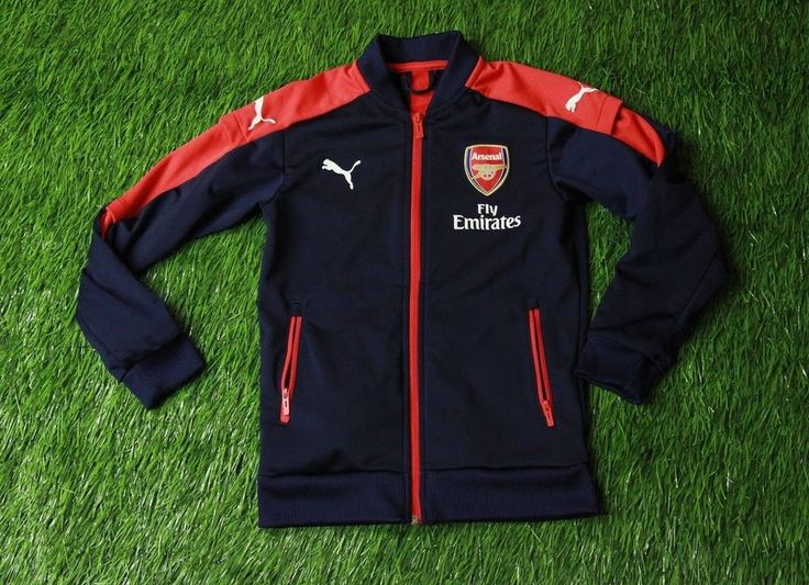 ARSENAL LONDON 2016/2017 FOOTBALL TRACK TOP JACKET TRAINING PUMA ORIGINAL #Puma #Arsenal