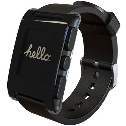 Pebble Smartwatch... the tracking feature would let folks at home know where I am (just in case)