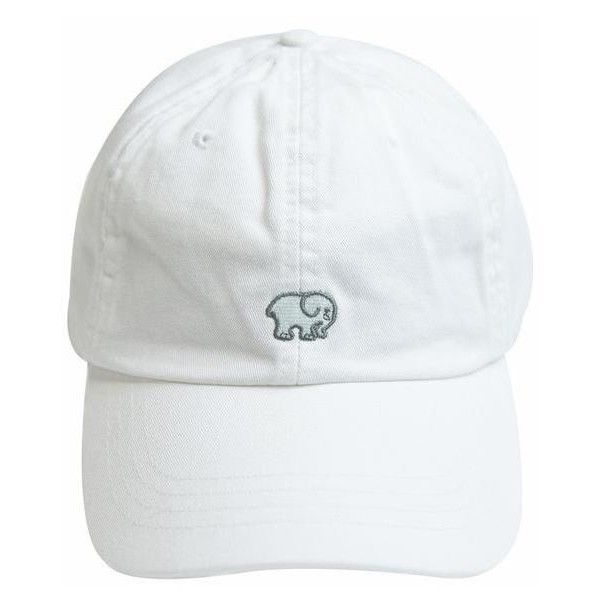 White Ella Baseball Cap ($29) ❤ liked on Polyvore featuring accessories, hats, ball cap, cotton hat, cotton baseball cap, embroidered ball caps and adjustable hats