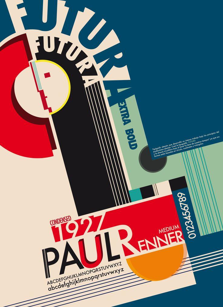 PAUL RENNER (1878-1956) Alemania Diseñador y profesor / será de los máximos defensores de la Bauhaus / Creó la tipog FUTURA (1927): Geométrica