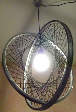 "Fahrrad Flössel - Shop ""Geflochtene Lampe"" (groß)"