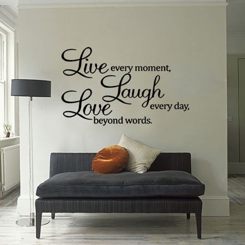 17 best images about vinyl wall quotes on pinterest for Living room quotes for wall