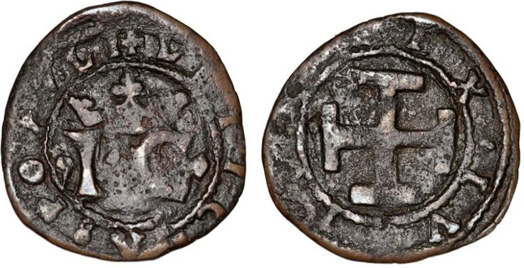 Joanna of Castile and Charles V of Habsburg (1516 - 1519)  Denomination	Grano Date Struck	ND Mint	Naples Obv:	Crowned Initials Rev:	Cross