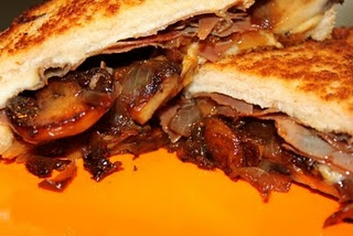 Carmelized Mushroom, Onion & Prosciutto Grilled Cheese - I would like ...