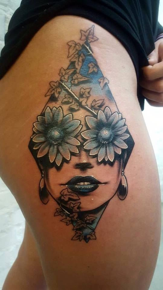 woman tattoo, 77 ink