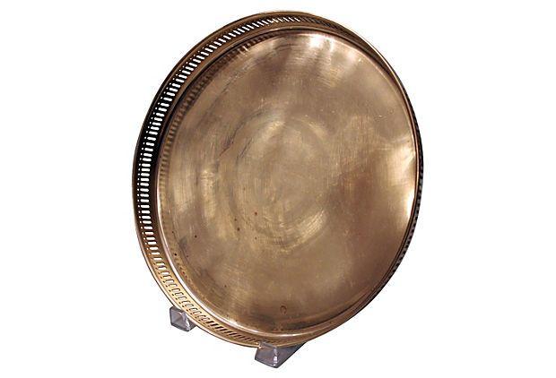 Pierced Brass Round Tray