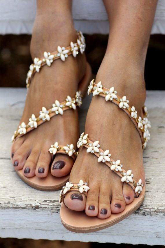 Bridal Sandals Natalie handmade to order by ElinaLinardaki on Etsy