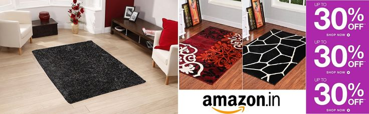 Decorate your sweet #home or #office with our #carpets, #AreaRugs, #ShaggyCarpets, #Rugs and avail great #discounts in #amazon.in by following the #image.