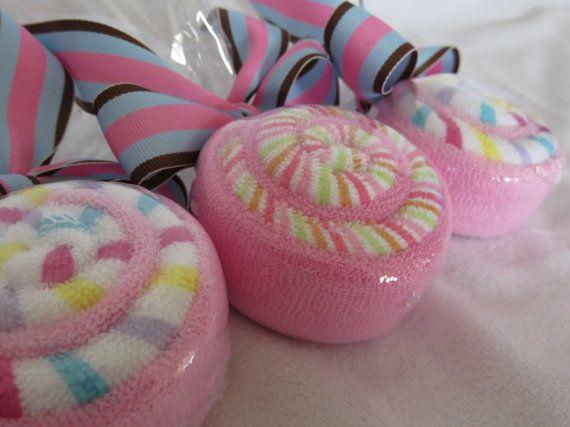 Baby Washcloth Lollipops Baby Shower by TheCraftyStork on Etsy