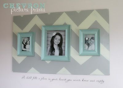 DIY chevron picture frame