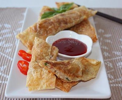 My Kitchen Snippets: Pan Fried Bean curd Rolls
