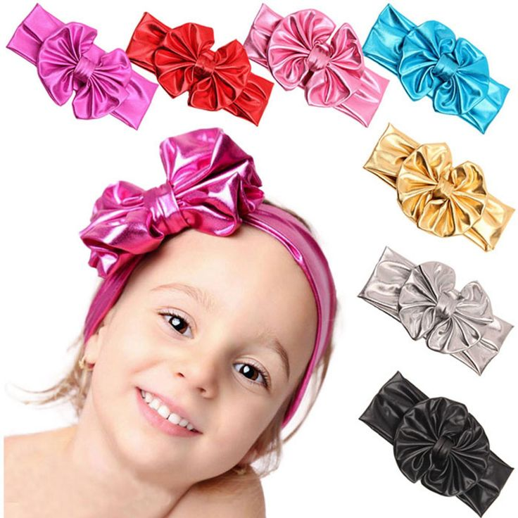 >> Click to Buy << Newest trendy Children head wear Metallic Messy Big Bow   Girls Headband cnady color famous brand for girl hair accessories#4 #Affiliate